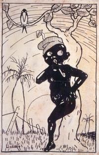 Saci [nanquim de Monteiro Lobato, c. 1917] Col. Família Monteiro Lobato