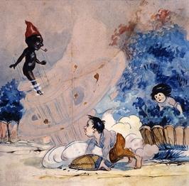 O Saci, por Voltolino, c. 1920 [Bibl. Monteiro Lobato, SP]