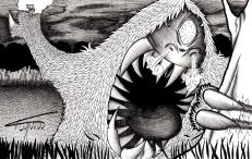 Mapinguari é também um monstro do norte, com uma boca tão enorme que engoliria pessoas inteiras de uma única vez. Seu ponto fraco é o umbigo