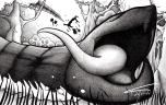 Minhocão é uma grande serpente que habita os rios do Centro-Oeste, como Mato Grosso e Mato Grosso do Sul. É o movimento dele que faz derrubar os barrancos na margem dos rios.