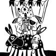 O CARRO. Carta que simboliza a vitória, o triunfo, talento e competência foi representada pelo Mateus (personagem típico dos reisados – Folia de Reis, Reisado, ou Festa de Santos Reis é uma manifestação cultural religiosa festiva e classificada, no Brasil, como folclore; praticada pelos adeptos e simpatizantes do catolicismo).