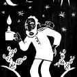 """O EREMITA. A austeridade, sobriedade, concentração e prudência que a carta representa aparece na imagem de Preto Velho (uma entidade de umbanda, espíritos que se apresentam em corpo fluídico de velhos africanos que viveram nas senzalas, majoritariamente como escravos que morreram no tronco ou de velhice, e que adoram contar as histórias do tempo do cativeiro. São divindades purificadas de antigos escravos africanos. Sábios, ternos e pacientes, dão o amor, a fé e a esperança aos """"seus filhos"""". São entidades que tiveram, pela sua idade avançada, o poder e o segredo de viver longamente através da sua sabedoria, apesar da rudeza do cativeiro demonstram fé para suportar as amarguras da vida, consequentemente são espíritos guias de elevada sabedoria)."""