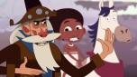 Episódio 11: Vaqueiro Misterioso é o tema dos últimos episódios. Entendo sua escolha como um mito coringa, que poderia fazer qualquer coisa na série. Afinal as descrições sobre ele são as mais genéricas possíveis: um vaqueiro (misterioso) que aparece do nada no sertão. Virou um personagem divertido, fã de filmes de luta, mas de contato folclórico mesmo vi muito pouco.