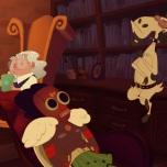 """Episódio 6: Cabra Cabriola, descrita como sinônimo de bicho papão, se une a Chibamba para tentar assustar crianças que hoje em dia """"não tem medo de nada""""."""