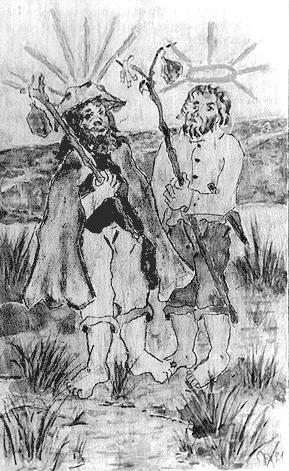 São Pedro e Jesus, por Oswaldo Xidieh